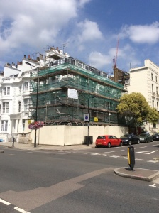 Very large end of terrace property in Paddington. All three elevations are being restored, repaired and redecorated.